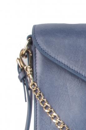Leren clutch Nia | blauw