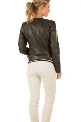 Leather biker jacket Siento | black