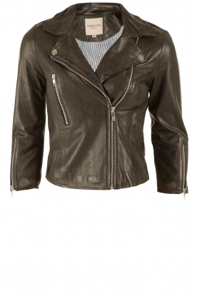 Leather biker jacket Sandro