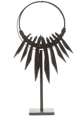 Little Soho Living |  Cuttlefish necklace on a stand Fay | black