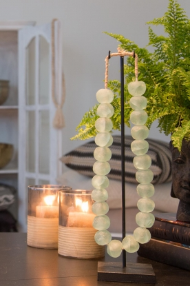 Little Soho Living |  Glass bead necklace on a stand Chloe | green