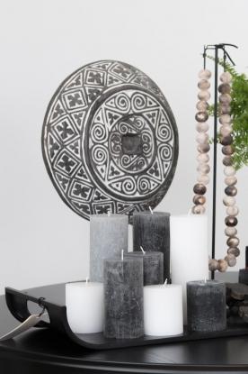 Little Soho Living | Rond ornament op een standaard Lewis | zwart