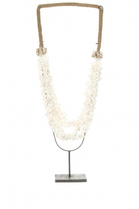 Little Soho Living |  Shell necklace on a stand Zoe | white