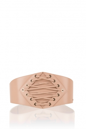 Leather belt Jacky | nude