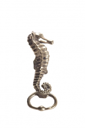 Little Soho Living | Luxurious sea horse bottle opener River | gold