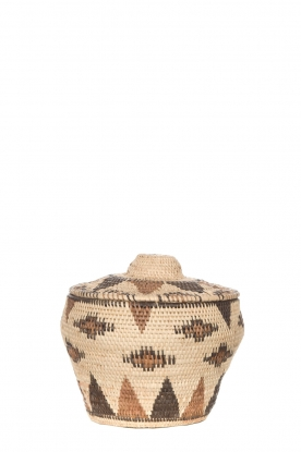 Little Soho Living |  Printed rattan basket Abbey - small | natural