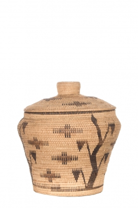 Little Soho Living | Printed rattan basket Hope - large | camel