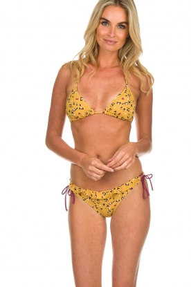 Melt |  Bikini top with leopard print Leopard | animal