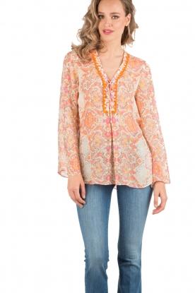 Silk tunic top Marlia | multi