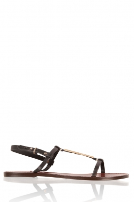 Leather sandal Roelie | black