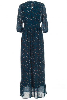 Melt |   Maxi dress with leopard print Noa | blue