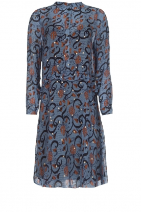 Munthe |  Dress with print Alyssa | blue