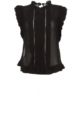 Munthe |  Top with ruffles Above | black