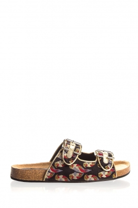 Toral |  Printed sandals Birds | black