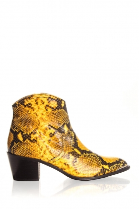 Toral |  Ankle boots with snakes print Ambra | yellow