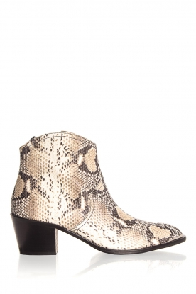 Toral |  Ankle boots with snakes print Ambra | beige