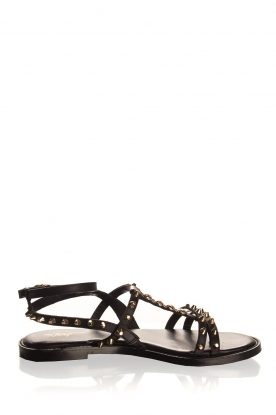 Toral | Leather sandals Mira | black