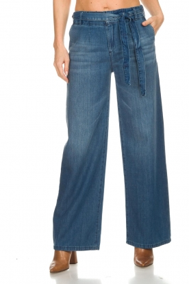 Lois Jeans |  Cotton jeans with belt Noemi | blue