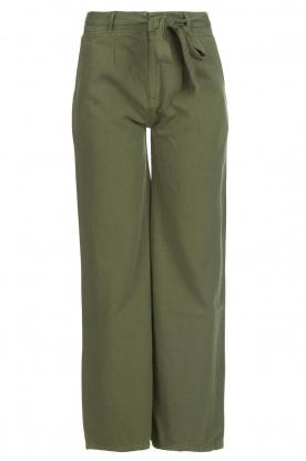 Lois Jeans |  Wide leg cotton pants Noemi | green