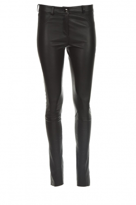 Arma |  Leather pants Brandice | black