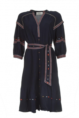 ba&sh |  Embroidered blouse dress Patty | blue