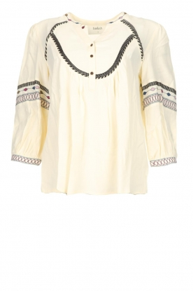 ba&sh | Blouse met bohemian patroon Plume | naturel