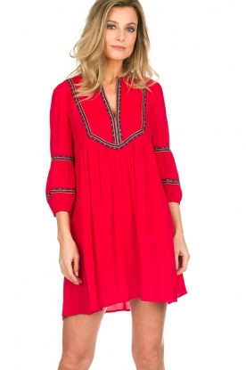 ba&sh |  Embroidered dress Cale | red