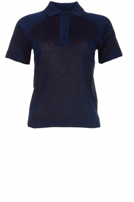 ba&sh |  Glitter polo top Alice | blue