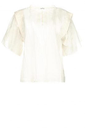 ba&sh |  Blouse with ruffles Serena | natural