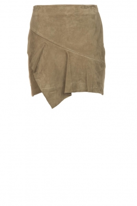 ba&sh | Leather skirt Rosanna | green