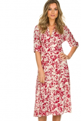 ba&sh |  Floral dress Elfe | natural