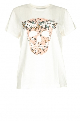 Munthe |  T-shirt with print Darling | white