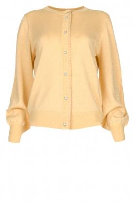 Munthe | Vest met lurexdetails Drumroll | beige