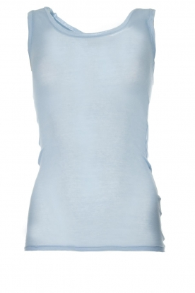 American Vintage |  Cotton tank top Massachusetts | blue