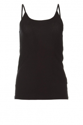 American Vintage |  Sleeveless cotton top Chipiecat | black