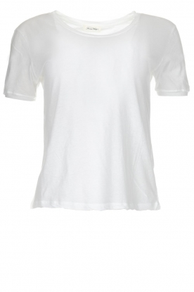 American Vintage |  Cotton basic top Chipiecat | white