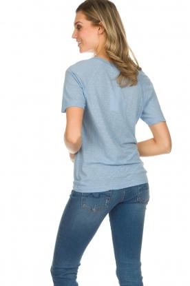 American Vintage | Katoenen T-shirt Lorkford | blauw