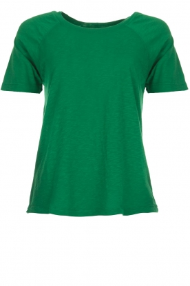 American Vintage   Katoenen T-shirt Lorkford   groen