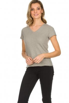 American Vintage   Katoenen T-shirt Sonoma   grijs