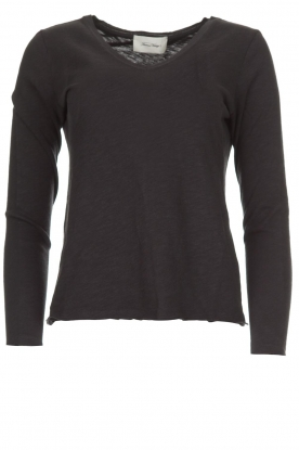 American Vintage |  Cotton longsleeve top Sonoma | dark grey