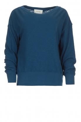 American Vintage | Katoenen basic trui Sonoma | blauw