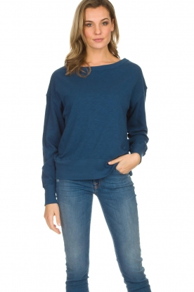 American Vintage |  Cotton basic sweater Sonoma | blue