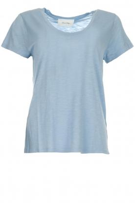 American Vintage | Basic T-shirt Jacksonville | lichtblauw