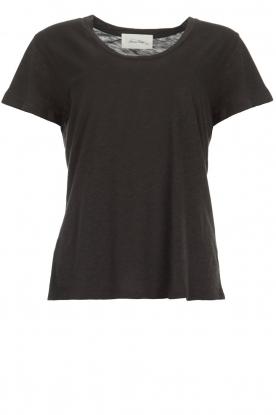 American Vintage | Basic T-shirt Jacksonville | donkergrijs