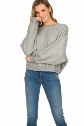 American Vintage |  Cotton oversized sweater Lokobridge | grey