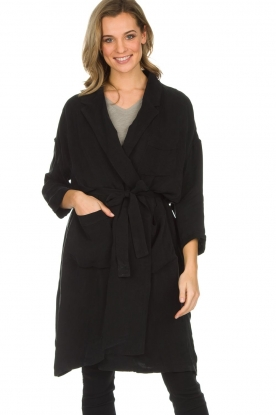 American Vintage |  Wrap coat Meadow | black