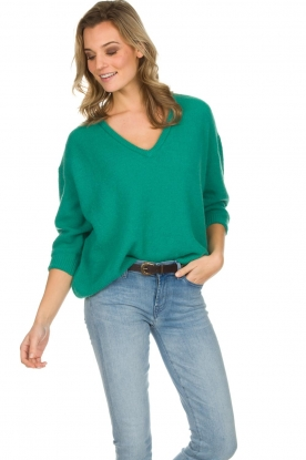 American Vintage |  Knitted sweater Vikiville | green