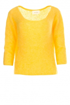 American Vintage |  Knitted sweater Woxilen | yellow