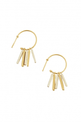 Mimi et Toi | 18k gold plated earrings Fauve | gold