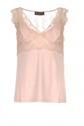 Rosemunde |  Top with lace Lynn | nude